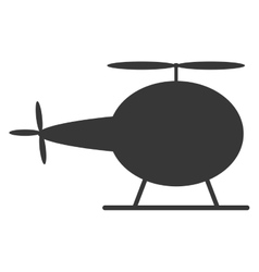 Single helicopter icon vector