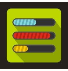Progress loading bars icon flat style vector image
