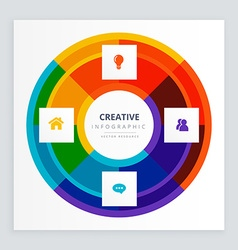 Creative infographic concept vector