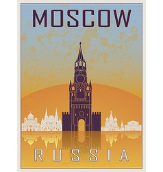 Moscow vintage poster vector
