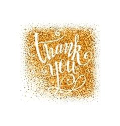 Golden Thank you badge vector image