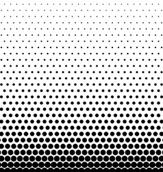 Circle Halftone Element Monochrome Abstract vector image