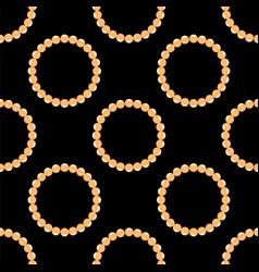 pearl necklake seamless patttern on black vector image