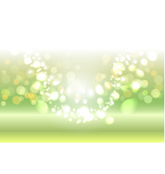 Green shiny sparkles vector