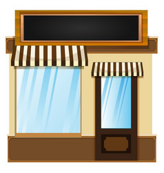 shop design with glass window vector image