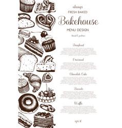 Hand drawn baking design vector