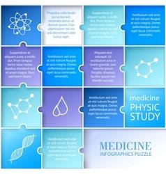 Flat medicine infographic design vector
