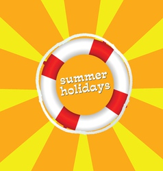 Summer holidays color vector
