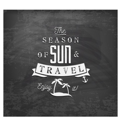 The season of sun and travel - calligraphy vector