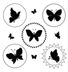 Butterfly label vector