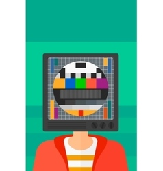Man with tv head vector