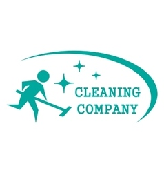 blue cleaning symbol vector image