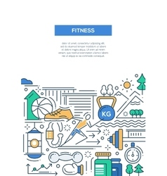 Ftness - line design composition vector
