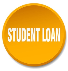 Student loan orange round flat isolated push vector