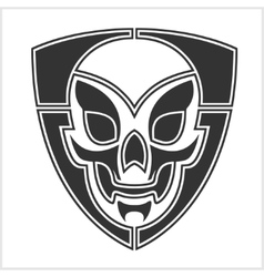 skull riders shield vector image