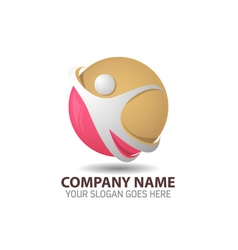 Human technology logo vector