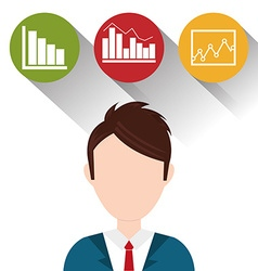 Business statistics design vector