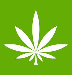 cannabis leaf icon green vector image vector image