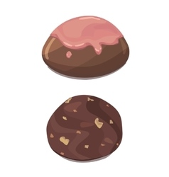 Chocolate colorful candies isolated vector