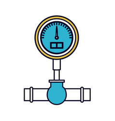 Color sections silhouette of water meter vector