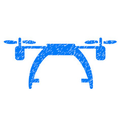 Drone carrier grunge icon vector