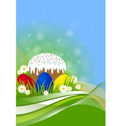 greeting card for Easter vector image vector image