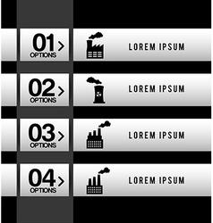 Industry infographics vector