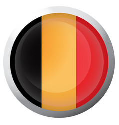 Isolated flag of belgium vector