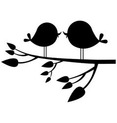 lovebirds cartoon icon image vector image