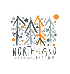 Noth land logo template original design badge for vector
