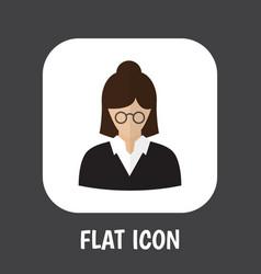 of job symbol on teacher flat vector image