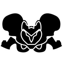 Pelvis skeleton black color icon vector