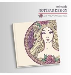 Printable notepad design vector