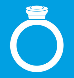 Ring icon white vector