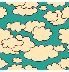 Sky and clouds seamless pattern background vector image vector image