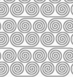 Slim gray striped spiral rolls vector