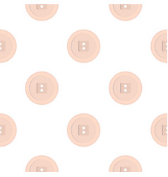 White sewing button pattern flat vector