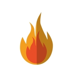 Flame fire orange hot icon graphic vector