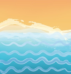 Abstract sea or ocean background with a beach vector image