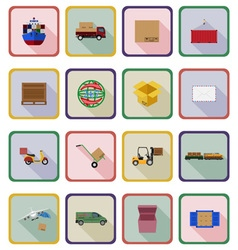 delivery flat icons 20 vector image