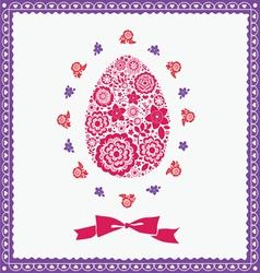 floral ornamental easter post card vector image