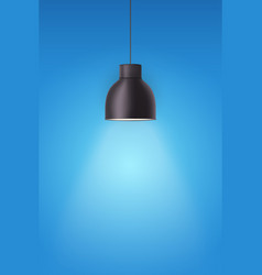 Retro metal stylish ceiling cone lamp vector