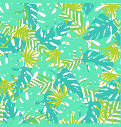 Bright tropical leaves vector