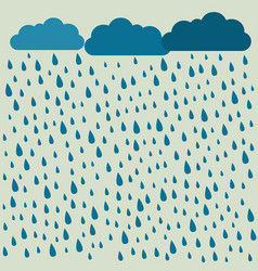 Rain image with clouds in wet day rain pattern vector