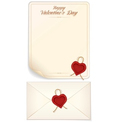 Valentine day love letter print template vector