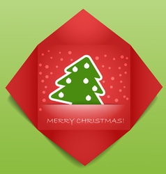 Color polygonal christmas greeting card vector image
