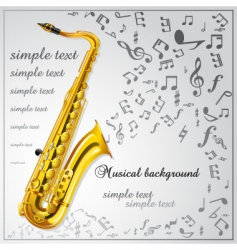 Saxophone music background vector