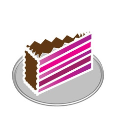 Purple cake vector