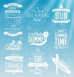 Summer Beach Calligraphy Design Elements vector image