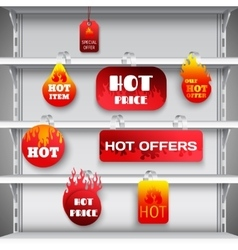 Hot sale rack wobblers print vector